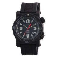 TITAN Nitromid® polymer with Stainless Steel core Dial Black Black co-molded rubber and nylon strap