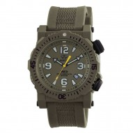 TITAN Nitromid® polymer with Stainless Steel core Dial OD Green OD Green co-molded rubber and nylon strap