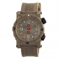 TITAN Nitromid® polymer with Stainless Steel core Dial Flat Dark Earth Flat dark earth co-molded rubber and nylon strap
