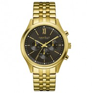 Goes 24/7 At Work Or Play For Him Or Her. Gold-Tone Stainless Steel Case And Bracelet. Black Dial . Chronograph Function. Fold-Over Buckle Closure.