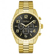 YouLl Make A Bold Statement With Confident Style. Gold-Tone Stainless Steel Case And Bracelet. Black Dial With Chronograph Function. Fold-Over Buckle Closure.