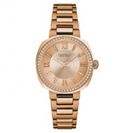 Beautiful From Every Angle This Mid-Sized Watch Has Perfect Proportions. Rose Gold-Tone Stainless Steel Case And Bracelet With 60 Individually Hand-Set Crystals On Bezel. Rose Gold-Tone Dial With Crystal Markers. Fold-Over Buckle Closure.