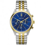 Goes 24/7 At Work Or Play For Him Or Her. Stainless Steel And Gold-Tone Case And Bracelet. Blue Dial. Chronograph Function. Fold-Over Buckle Closure.
