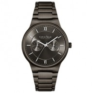 This Sleek And Modern Design Adds A Distinctive Edge. Gunmetal Ip Stainless Steel Case And Bracelet. Gray Dial With Multifunction Feature. Fold-Over Buckle Closure.