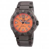 GAMMA Gunmetal-plated Stainless Dial Sunray Orange Gunmetal-plated Stainless Bracelet