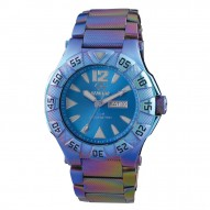 GAMMA Ionized-plated Stainless Dial Bright Blue Ionized-plated Stainless Bracelet