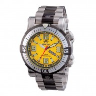 POSEIDON Stainless Dial Yellow & Black 2-tone Stainless Bracelet