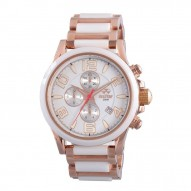 OXIDE Rose Gold plated Stainless Dial White Rose Gold plated Stainless Bracelet w/ White Ceramic