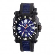 GRYPHON Nitromid® polymer with Stainless Steel core Dial Blue Black & Blue co-molded rubber and nylon strap