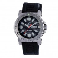 MELTDOWN 2 Stainless Dial Carbon Fiber Black co-molded rubber and nylon strap