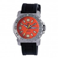 MELTDOWN 2 Stainless Dial Orange Black co-molded rubber and nylon strap