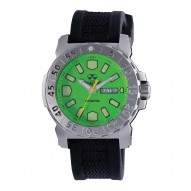 MELTDOWN 2 Stainless Dial Acid Green Black co-molded rubber and nylon strap