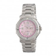 CRITICAL MASS Stainless Dial Pink Mother of Pearl Stainless Bracelet