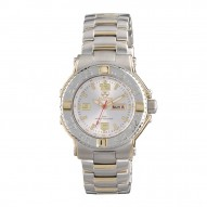 CRITICAL MASS Gold-plated 2-tone Stainless Dial Silver Gold-plated 2-tone Stainless Bracelet