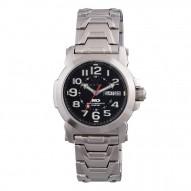 ATOM Never Dark® Stainless Dial Black Stainless Bracelet