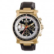 VALKYRIE Gold-plated stainless Dial Black Black Leather