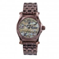 CURIE Coffee-plated Stainless Dial Zebra Abalone Coffee-plated Stainless Bracelet