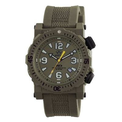 TITAN NitromidB. polymer with Stainless Steel core Dial OD Green OD Green co-molded rubber and nylon strap