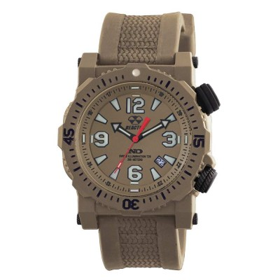 TITAN NitromidB. polymer with Stainless Steel core Dial Flat Dark Earth Flat dark earth co-molded rubber and nylon strap