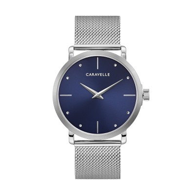 43A149 Dress Blue Dial Silver Mesh Bracelet Watch