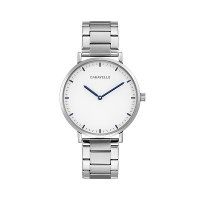 43A150  Dress White Dial Stainless Steel Watch