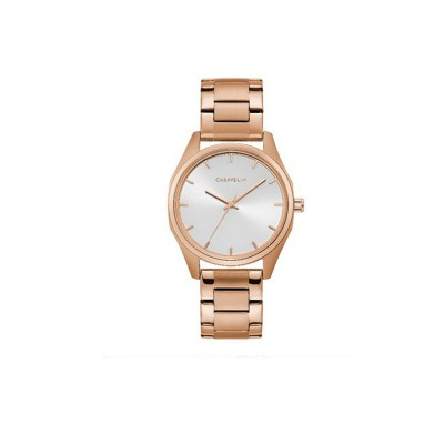 45L179 Ladies Rose Gold Bracelet with Silver Dial and Rose Gold Detail