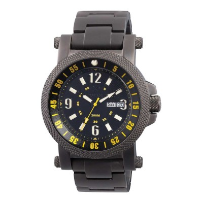 FALLOUT 2 Black-plated Stainless Dial Black & Yellow Black-plated Stainless Bracelet