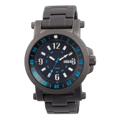 FALLOUT 2 Black-plated Stainless Dial Black & Blue Black-plated Stainless Bracelet