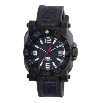 GRYPHON NitromidB. polymer with Stainless Steel core Dial Black Black co-molded rubber and nylon strap