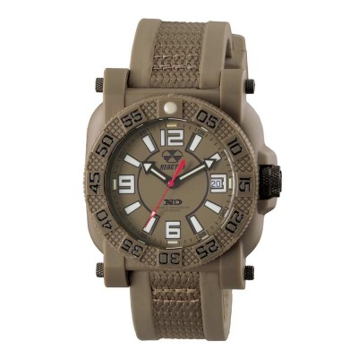 GRYPHON NitromidB. polymer with Stainless Steel core Dial Flat Dark Earth Flat dark earth co-molded rubber and nylon strap