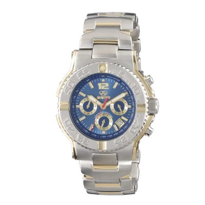 CRITICAL MASS CHRONO Gold-plated 2-tone Stainless Dial Ocean Blue Gold-plated 2-tone Stainless Bracelet