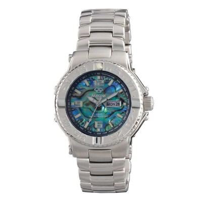 CRITICAL MASS Stainless Dial Genuine Abalone Stainless Bracelet
