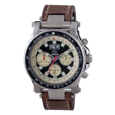 VALKYRIE Stainless Dial Black & Tusk Dark Brown Leather
