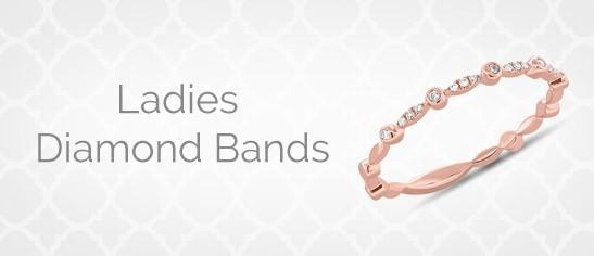 Ladies Diamond Bands