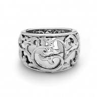 Sterling Silver Ivy Lace Band Ring