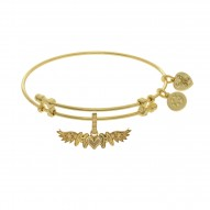 Brass with Yellow Finish M-Heart-M with Wing Charm For Angelica Bangle