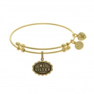 Brass with Yellow Finish #1 Sister Charm for Angelica Bangle