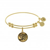 Brass with Yellow Finish Comedy/Tragedy Charm for Angelica Bangle