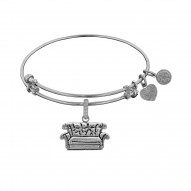 Brass with White Finish Friends Central Perk Couch Angelica Bangle