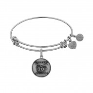 Brass with White Finish Friends 20Th Anniversary Angelica Bangle