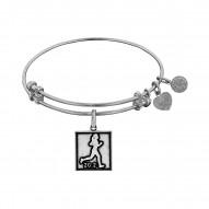 Brass with White Finish Marathon Runner Angelica B angle