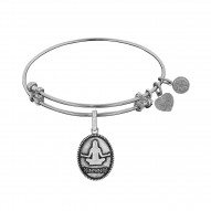 Brass with White Finish Yoga Angelica Bangle