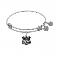Brass with White Finish Route 66 Angelica Bangle