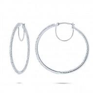 Maddison E 0.50ct 14k White Gold Diamond Hoop Earring