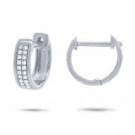 Maddison E 0.10ct 14k White Gold Diamond Huggie Earring