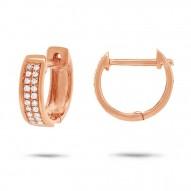 Maddison E 0.10ct 14k Rose Gold Diamond Huggie Earring
