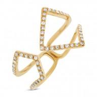 0.24ct 14k Yellow Gold Diamond Lady