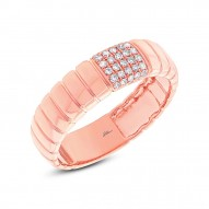 0.14ct 14k Rose Gold Diamond Lady