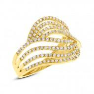 0.61ct 14k Yellow Gold Diamond Lady