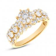 1.47ct 18k Yellow Gold Diamond Round Invisible Ring